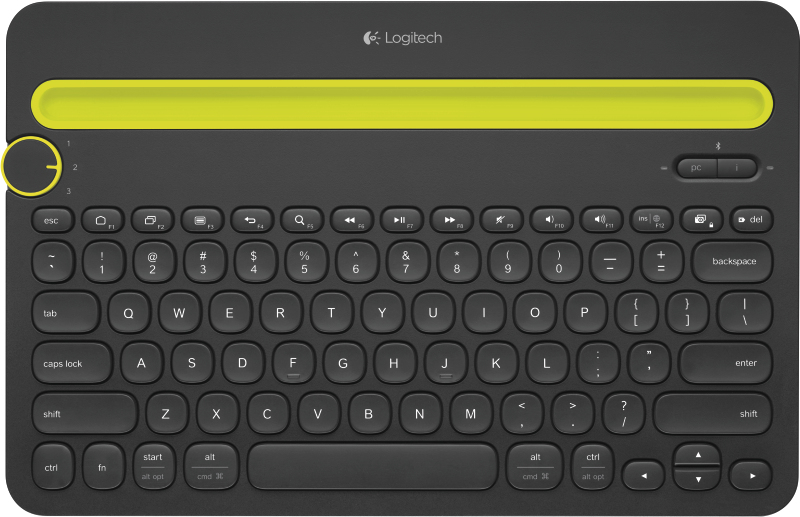 Bluetooth(R) Multi-Device Keyboard K480-BLACK-DEU-BT-CENTRAL